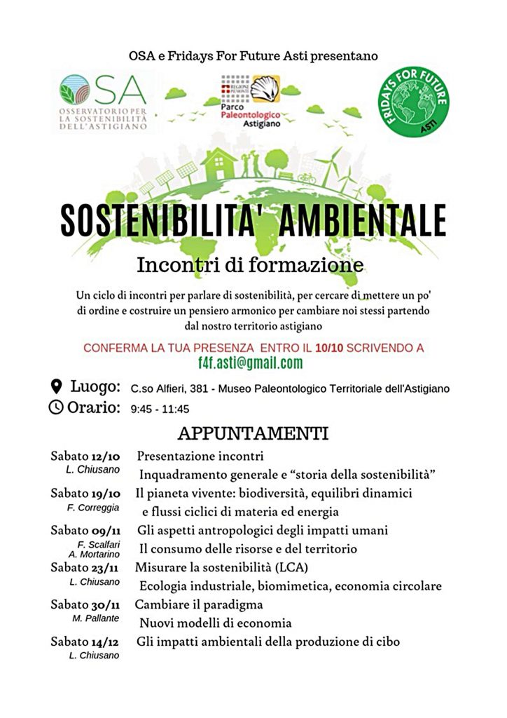 Sostenibilità Ambientale – ciclo di incontri