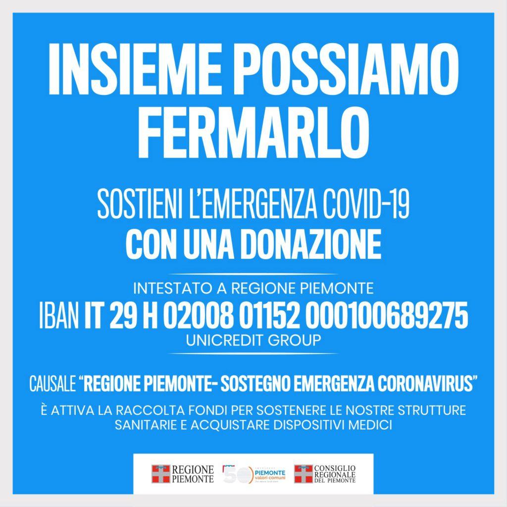 COVID-19 – INSIEME POSSIAMO FERMARLO – raccolta fondi